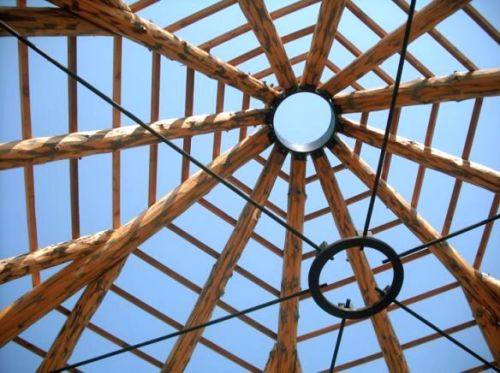 Kinstone 20 Tension ring and circular metal roof bracket makes for a strong system